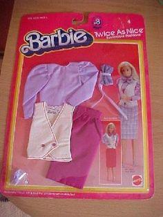 Barbie Doll 1983 Mattel Reversible Fashion Card