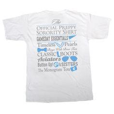 Delta Gamma Preppy Game Day Shirt by GreekGraffitiDorm on Etsy