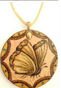 Wood carved necklaces ~