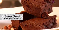 Rum and Almond Chocolate Brownies by Nikhil Merchant. He knows what's up.  Nikhil's blog: http://nonchalantgourmand.com/