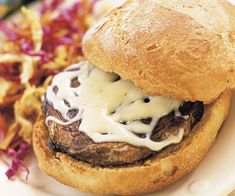 Roasted Portabella & Garlic Burger Recipe