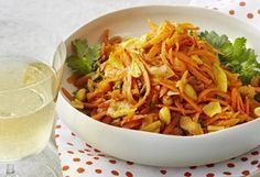 Salade de carottes à la noix de coco et aux arachides
