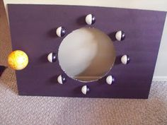 Teachingisagift: Saw it on Pinterest...Bought it at Dollar Tree...Made it at Home...and a FREEBIE. Teaching the phases of the moon. Gail Gibbons Moon Book.