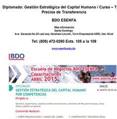 Diplomado: Gestión Estratégica del Capital Humano / Curso: Precios de Transferencia - Publicidad