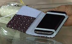 This case is actually glued, not sewn, but gives me some ideas. Blog Claudia Tenório: Faça um lindo case para celular