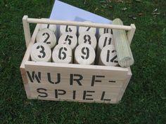 Holzwurfspiel  (wood-black) von  Outdoorspieler auf DaWanda.com
