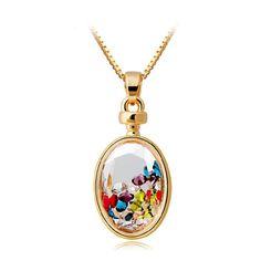 Crystal Wishing Bottle Pendant Necklace   Keep.com
