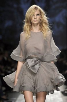 Valentino grey silk dress: perfect for bridesmaids in a brighter color