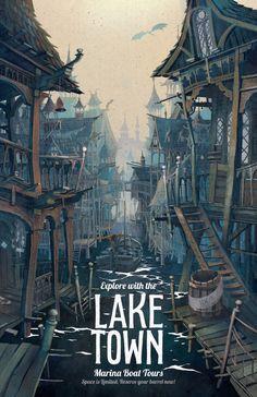 Lord of the Rings Poster Laketown Marina Boat by TheGreenDragonInn, $16.00