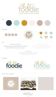 New Brand Launch: The Fit Foodie - Salted Ink Digital Design Co. Brand Identity Design, Graphic Design Branding, Corporate Design, Corporate Identity, Brochure Design, Stationery Design, Bakery Logo Design, Brand Style Guide, Branding Kit