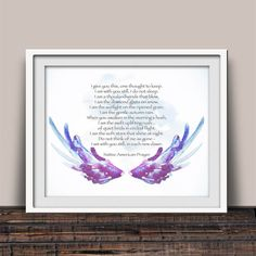 Native American Prayer Wall Art Decor Spiritual Prayer Art