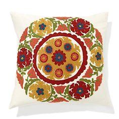Sarita Handa Suzani Circle Embroidered Multi Pillow at HSN.com.