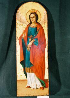 Αποτέλεσμα εικόνας για αγια βαρβαρα εικονα Saint Barbara, Saints, Painting, Art, Art Background, Painting Art, Paintings, Kunst, Drawings
