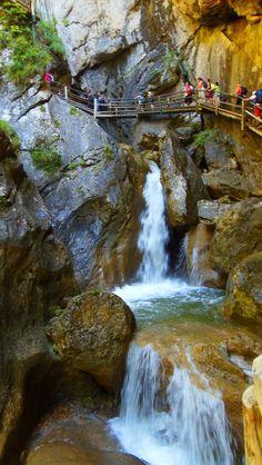 Ausztria Stájerország szurdok hegy Medveszurdok Mixnitz Klagenfurt, Carinthia, Salzburg, Beautiful Landscapes, Hungary, Waterfall, Nature, Travel, Outdoor