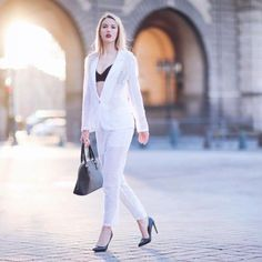 It's perforated everywhere and that's why I chose to wear only a black bra underneath for a good contrast and also to match i with the accessories. White Shirt Outfits, White Button Down Shirt, Black Bra, Zara Shoes, Duster Coat, Pants, Jackets, How To Wear, Contrast