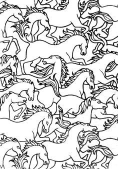 "Florence Broadhurst ""Horses Stampede"" #wallpaper"