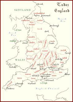 Map of Tudor England
