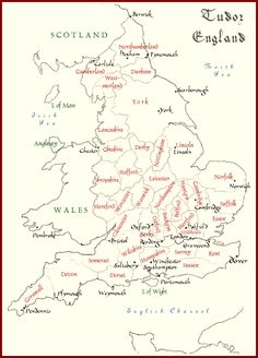 Map of Tudor England