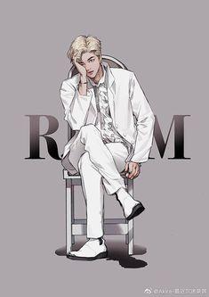 RapMon from bts Anime Wolf, Anime Outfits, Namjoon, Rapmon, Taehyung, Arte Copic, Bts Anime, Fanart Bts, K Wallpaper
