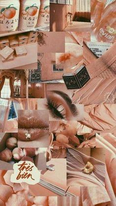 Wallpaper Collage, Peach Wallpaper, Classic Wallpaper, Collage Background, Iphone Wallpaper Tumblr Aesthetic, Aesthetic Pastel Wallpaper, Tumblr Wallpaper, Cute Wallpaper Backgrounds, Wallpaper Iphone Cute