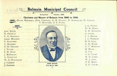 Balmain Council 1860-1948