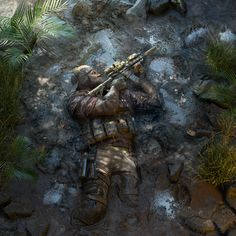 Ghost Recon Breakpoint is a military shooter set in a diverse, hostile, and mysterious open world that you can play entirely solo or in four-player co-op. Military Guns, Military Art, Ghost Recon 2, Military Drawings, Military Special Forces, Whatsapp Wallpaper, Future Soldier, Military Pictures, American Revolutionary War