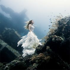 A Surreal Photoshoot on an Underwater Shipwreck in Bali