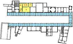 Planimetria con indicate le sale oggetto di riqualificazione tra i 1953 ed il 1956 a cura di : Michelucci, Scarpa, Gardella Carlo Scarpa, Periodic Table, Floor Plans, Diagram, Google, Periodic Table Chart, Periotic Table, Floor Plan Drawing, House Floor Plans