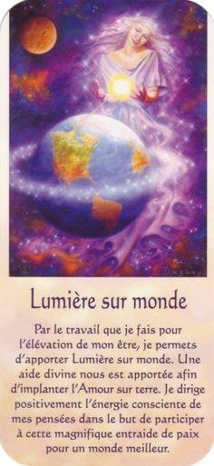 lumière sur monde + texte Miracle Morning Affirmations, Positive Affirmations, Mario, Positive Mind, Positive Vibes, Messages Spirituels, Meditation Mantra, Self Development, Personal Development