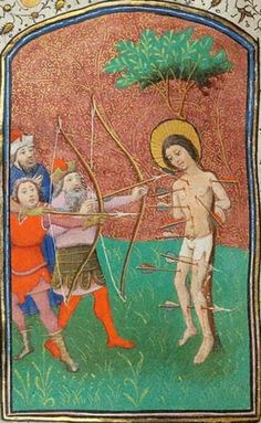 St Sebastian, Morgan W.3 Book of Hours