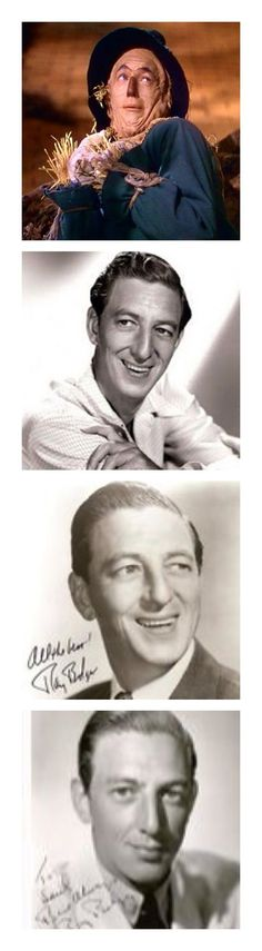 Scare Crow Ray Bolger Actor Born: January 10, 1904, Boston, MA Died: January 15, 1987