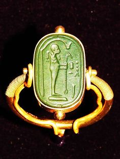 Egyptian ring from the tomb of King Tutankhamen ancient-jewels-reliques Ancient Egyptian Jewelry, Egyptian Art, Art Antique, Antique Jewelry, Viking Jewelry, Ancient History, Art History, European History, Ancient Aliens