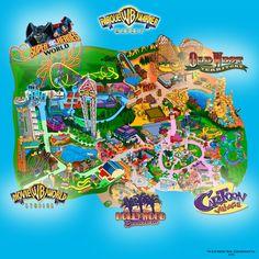Movie World Studios para sentirte como una estrella, Super Heroes World para los amantes de la acción. ¡Cada zona de #ParqueWarner es única! ¿Cuál es tu favorita?