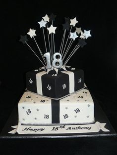 18th Birthday Cakes Black And White