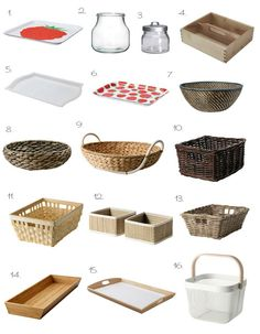 Baskets and trays for Montessori at home. So geeky and I already have a huge…