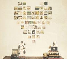 INSTAGRAM picture display ideas | Home ideas / heart display of instagram photos