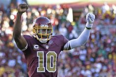 RG3 happy to win!
