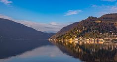 Morcote village and Lugano lake / Clickasnap Lake Mountain, Nature Water, Lugano, Image Types, River, Mountains, Outdoor, Outdoors, Outdoor Games