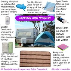 Go camping Norwex style! If you have questions, comments or want to order, email me! sarah@cleanwithpurpose.com
