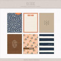 Foxtastic Journaling Cards at Digital Design Essentials