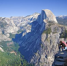 Half Dome at Yosemite National Park. We stayed in a cabin in the forest and watched a squirrel pee on the bed