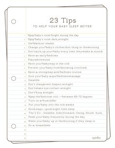 23 tips to help your baby sleep better