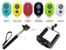 Rotary Extendable Handheld Camera Tripod Mobile Monopod + Bluetooth Remote Camera Control Self-timer Shutter for Iphone Sumsung(China (Mainland))