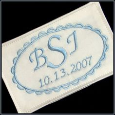 Fancy Embroidered Wedding Gown Label by InitialImpressions, $25.00