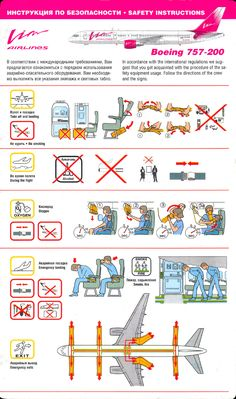 Home - my-safetycard.de - Safety Card Database - Safetycard Archive - Safety Card Archiv - Safetycards - Safety Cards - Scans - Pictures - A. Safety Instructions, Russia, Aviation, Airplane, Cards, Infographics, Bb, Aircraft, Archive