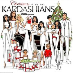 Happy holidays!Kourtney Kardashian has unveiled the 2015 family Christmas card, featuring Caitlyn Jenner, newborn Saint West, reclusive Rob and even a blink and you'll miss it appearance from Scott Disick in bauble form