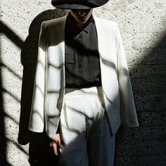 Classic white suit | maralazaridou | VSCO
