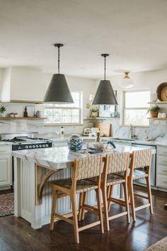 One Room Challenge - Spring 2020 - Week 8 Reveal - Collected Living Design Interior Design Kitchen, Interior Decorating, Upper Cabinets, Wood Trim, Beautiful Kitchens, Dream Kitchens, Wood Shelves, Beautiful Space, Kitchen Remodel