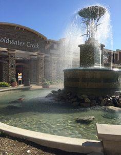 concrete water fountain public plaza