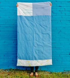 Blue Seed Bag Quilt | Home Bedroom | Hey Baby Craft Co. | Scoutmob Shoppe | Product Detail